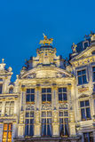 Guildhalls on Grand Place in Brussels, Belgium. Stock Photos