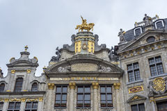 Guildhalls on Grand Place in Brussels, Belgium. Stock Photography
