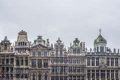 Guildhalls on Grand Place in Brussels, Belgium. Royalty Free Stock Photo