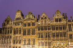 Guildhalls on Grand Place in Brussels, Belgium. royalty free stock photography