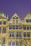 Guildhalls on Grand Place in Brussels, Belgium. Stock Photo