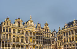 Guildhalls on Grand Place in Brussels, Belgium. Stock Images