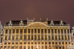 Guildhalls on Grand Place in Brussels, Belgium. Stock Image