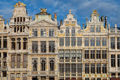 Guildhalls in the Grand Place Royalty Free Stock Photos