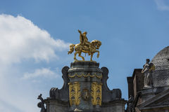 Guildhalls on the Grand Place of Brussels in Belgium. Royalty Free Stock Images