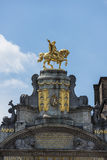 Guildhalls on the Grand Place of Brussels in Belgium. Stock Images