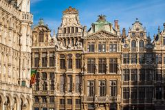 Guildhalls on the Grand Place, Brussels Royalty Free Stock Photo