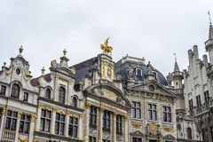 Guildhalls op Grand Place in Brussel, België. Stock Fotografie