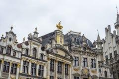 Guildhalls op Grand Place in Brussel, België. Stock Fotografie