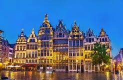 Guildhalls op het Vierkant van Grote Markt in Antwerpen, België royalty-vrije stock afbeeldingen