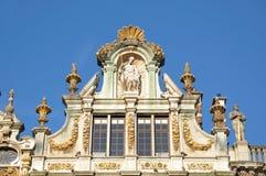 Guildhalls på storslaget ställe i Bryssel royaltyfria bilder