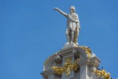 Guildhalls på Grand Place av Bryssel i Belgien Arkivbilder