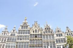 Guildhouses at Grote Markt in Antwerp, Belgium Royalty Free Stock Image