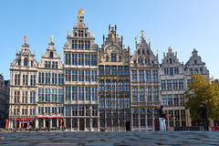 Guildhouses in the old town of Antwerp Stock Photography