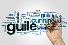 Guile word cloud Stock Image