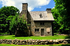 Guilford, CT: 1639 Henry Whitfield House en Museum Stock Afbeelding
