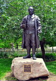 Guilford, CT : Rev Henry Whitfield Statue Image libre de droits