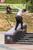Guilherme Durand under den 1st utmaningen för etappDC-skridsko Royaltyfri Foto
