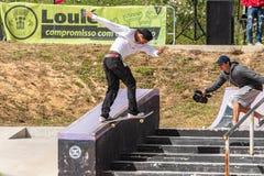 Guilherme Durand under den 1st utmaningen för etappDC-skridsko Royaltyfri Bild