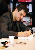 Guilherme Musso na feira de livro 2009 de Paris Fotografia de Stock Royalty Free