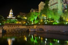 Guilin τη νύχτα Guangxi, Κίνα στοκ φωτογραφίες με δικαίωμα ελεύθερης χρήσης