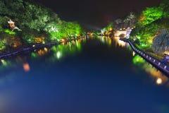 Guilin τη νύχτα Guangxi, Κίνα στοκ φωτογραφίες