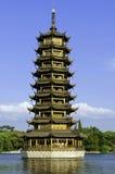 guilin один близнец pagodas Стоковая Фотография RF