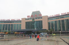 Guilin Bei train station Guilin China Royalty Free Stock Image