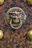 Decorative door handle on the entrance to a temple in Guilin China Stock Photography