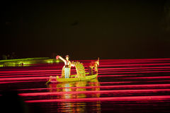 GUILIN,China - MARCH 14,2014: China Cultural traditional perform Royalty Free Stock Photo