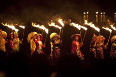 GUILIN,China - MARCH 14,2014: China Cultural traditional perform Stock Photography