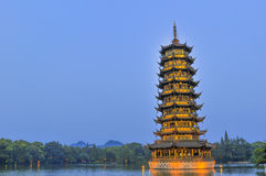 Guilin China Seven Star Park and Karst Yangshuo. Royalty Free Stock Photos
