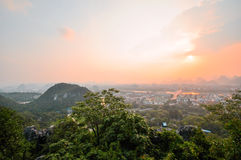 Guilin China Seven Star Park and Karst Yangshuo. Royalty Free Stock Images