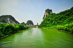 Guilin China Seven Star Park and Karst Yangshuo. Stock Photo