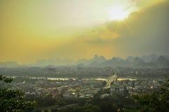 Guilin China Seven Star Park and Karst Yangshuo. Stock Image