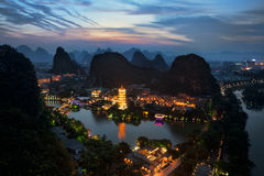 Guilin Cina fotografia stock libera da diritti