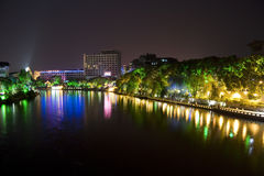 Guilin City Centre at Night Stock Image