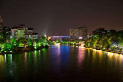 Guilin City Centre at Night Stock Images