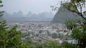 Guilin, ciudad de Yangshuo almacen de video