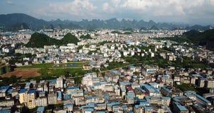 Guilin, ciudad famosa del viaje en la provincia de Guangxi en China almacen de video