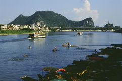 Guilin der Li-Fluss in China Stockfotos