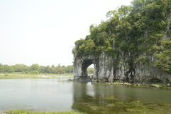 Guilin Elephant Trunk Hill Royalty Free Stock Photo