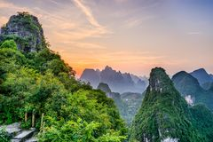 Karst Mountains in Guilin,China. Guilin, Guangxi, China karst mountains Royalty Free Stock Photo
