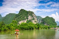 Karst Mountains in Guilin,China. Guilin, Guangxi, China karst mountains Stock Photo