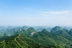 Guilin hills. Beautiful karst mountain landscape Royalty Free Stock Photography