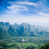 Guilin hills,beautiful karst mountain landscape Stock Photography