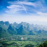 Guilin hills,beautiful karst mountain landscape Stock Photography