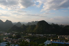 Guilin Hills. Hills with Guilin city limits Stock Photos