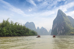 Guilin karst mountain landscape Stock Image