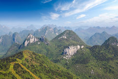 Guilin karst mountain landscape Stock Photos